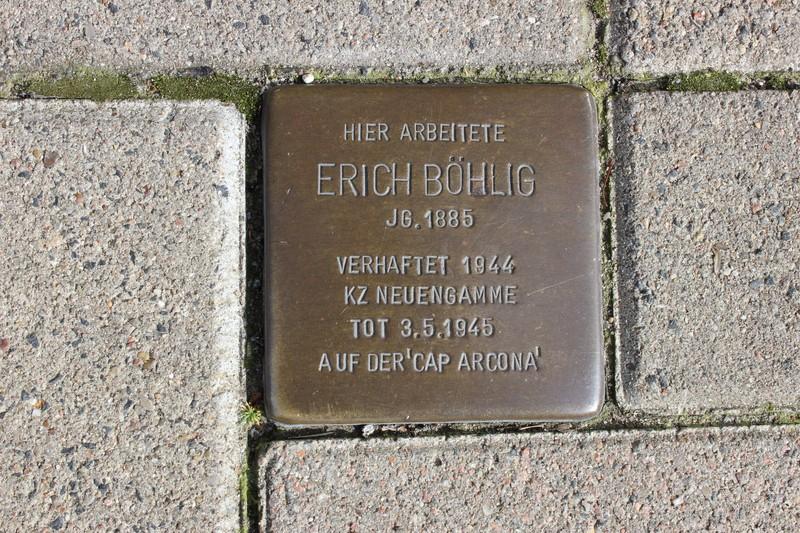 Stolperstein: Erich Böhlig