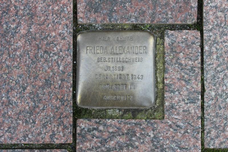 Stolperstein: Frieda Alexander geb. Stillschweig