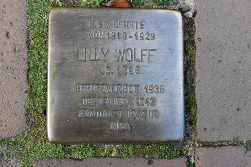Stolperstein: Lilly Wolff